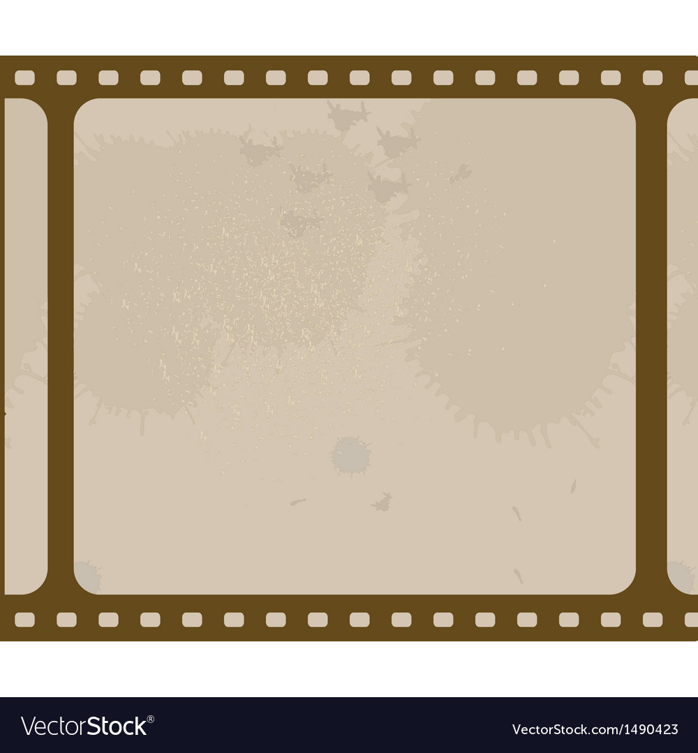 Old blank film strip isolated on white vector | Price: 1 Credit (USD $1)