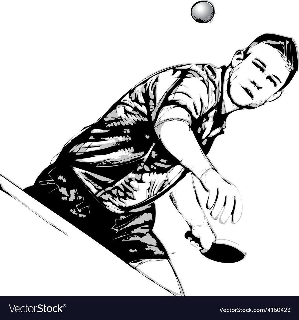 Ping pong player vector | Price: 1 Credit (USD $1)