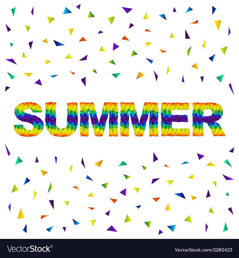 Triangular summer vector | Price: 1 Credit (USD $1)