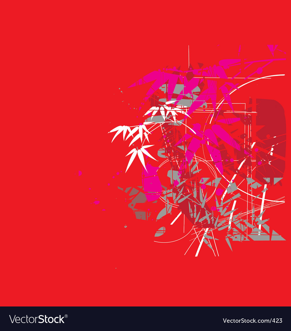 Tropical jungle red vector | Price: 1 Credit (USD $1)