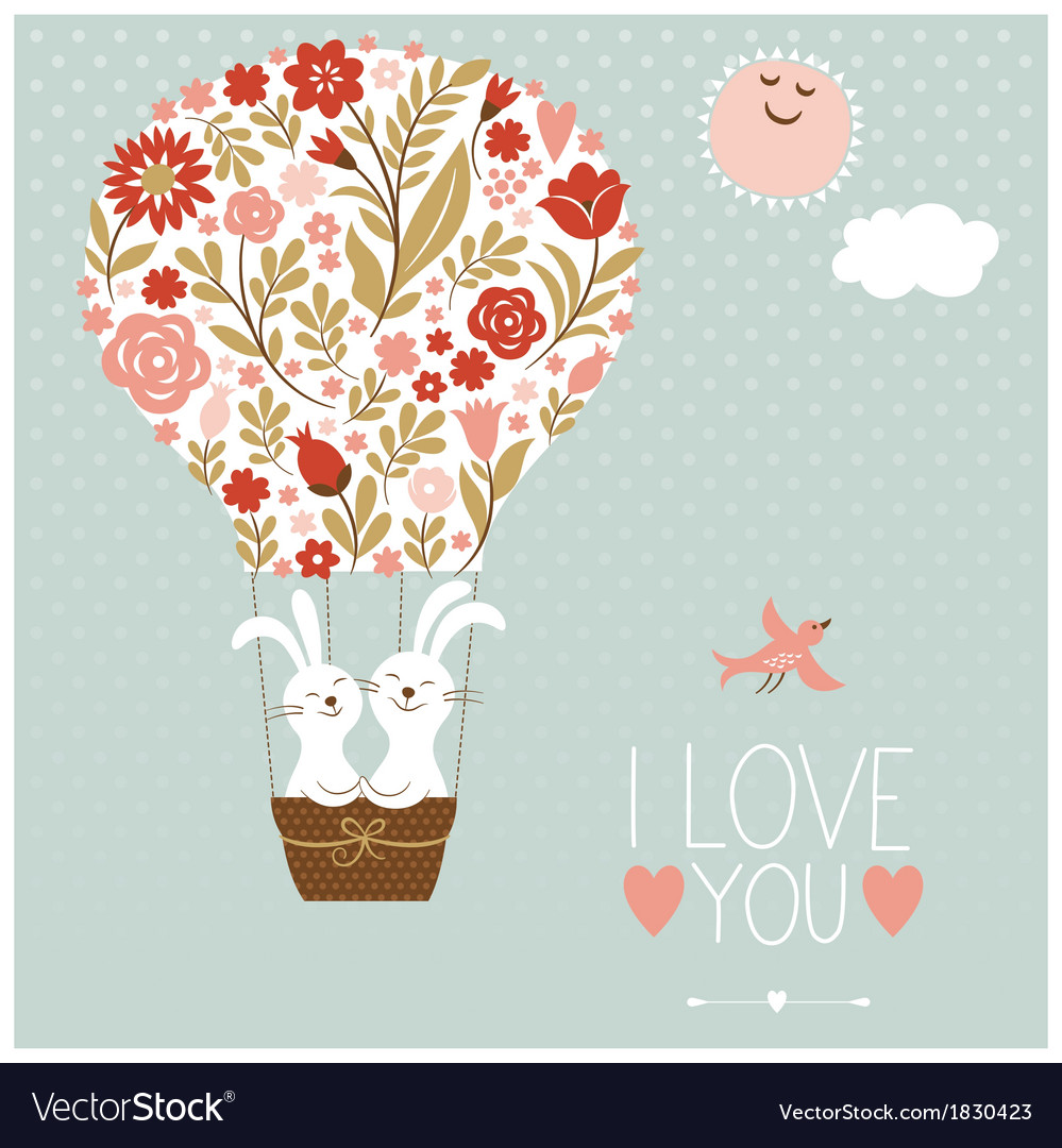 Valentines day or wedding card vector | Price: 1 Credit (USD $1)