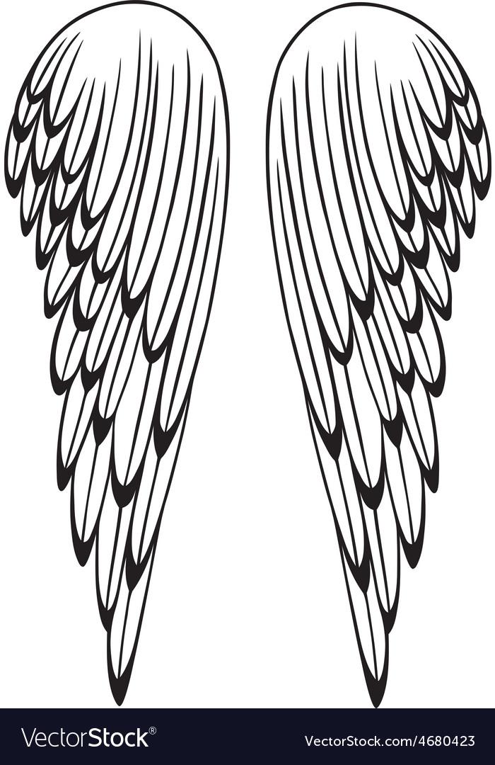 Wings angel vector | Price: 1 Credit (USD $1)