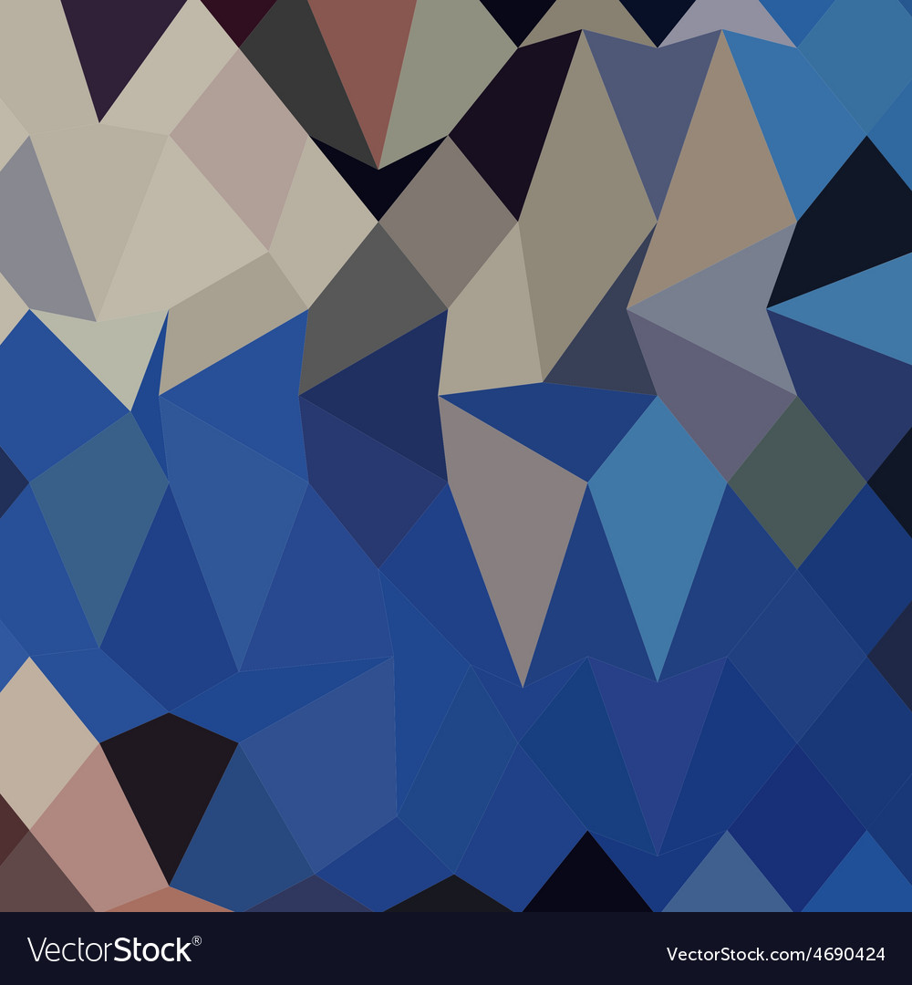 Bluebonnet abstract low polygon background vector | Price: 1 Credit (USD $1)