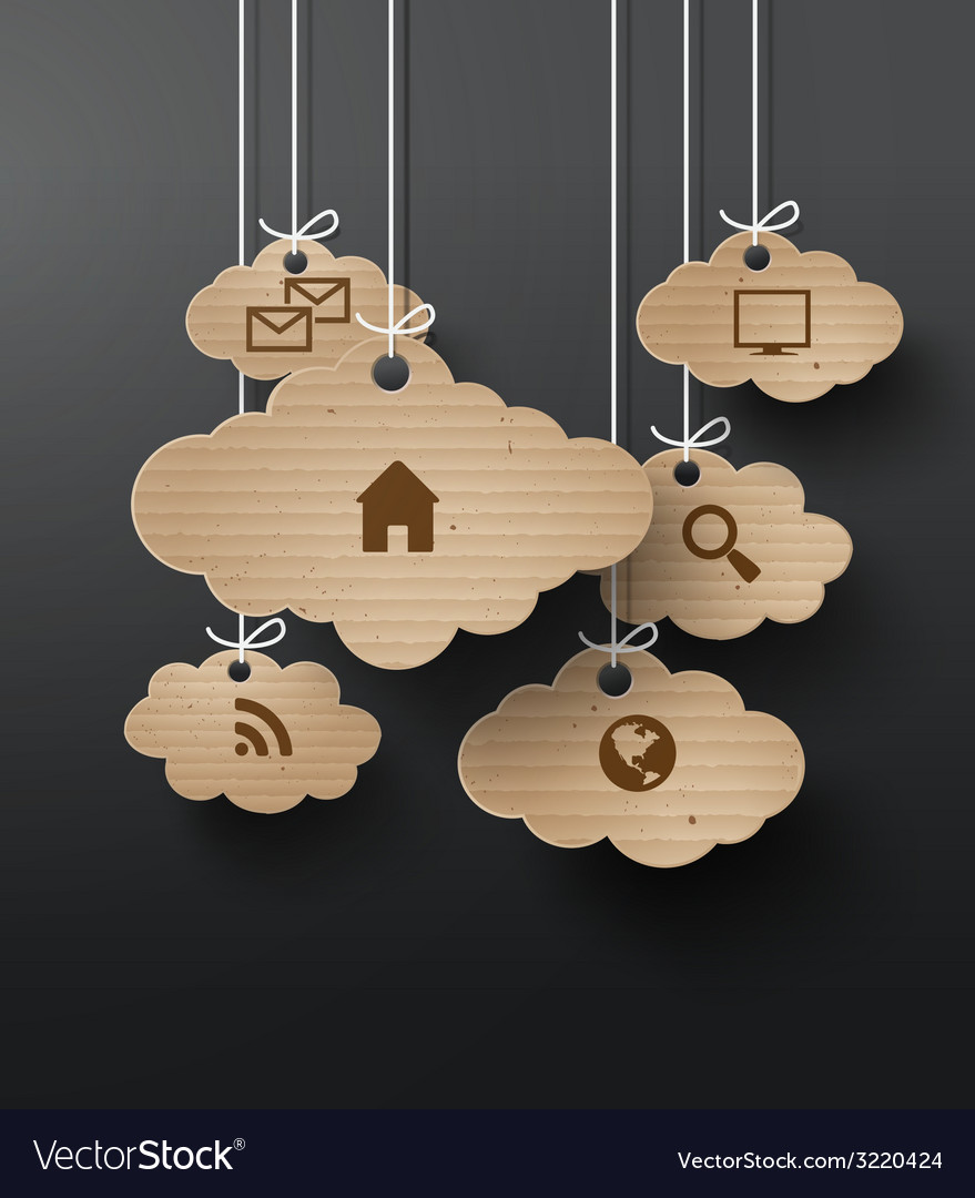Cloud cardboard vector | Price: 1 Credit (USD $1)