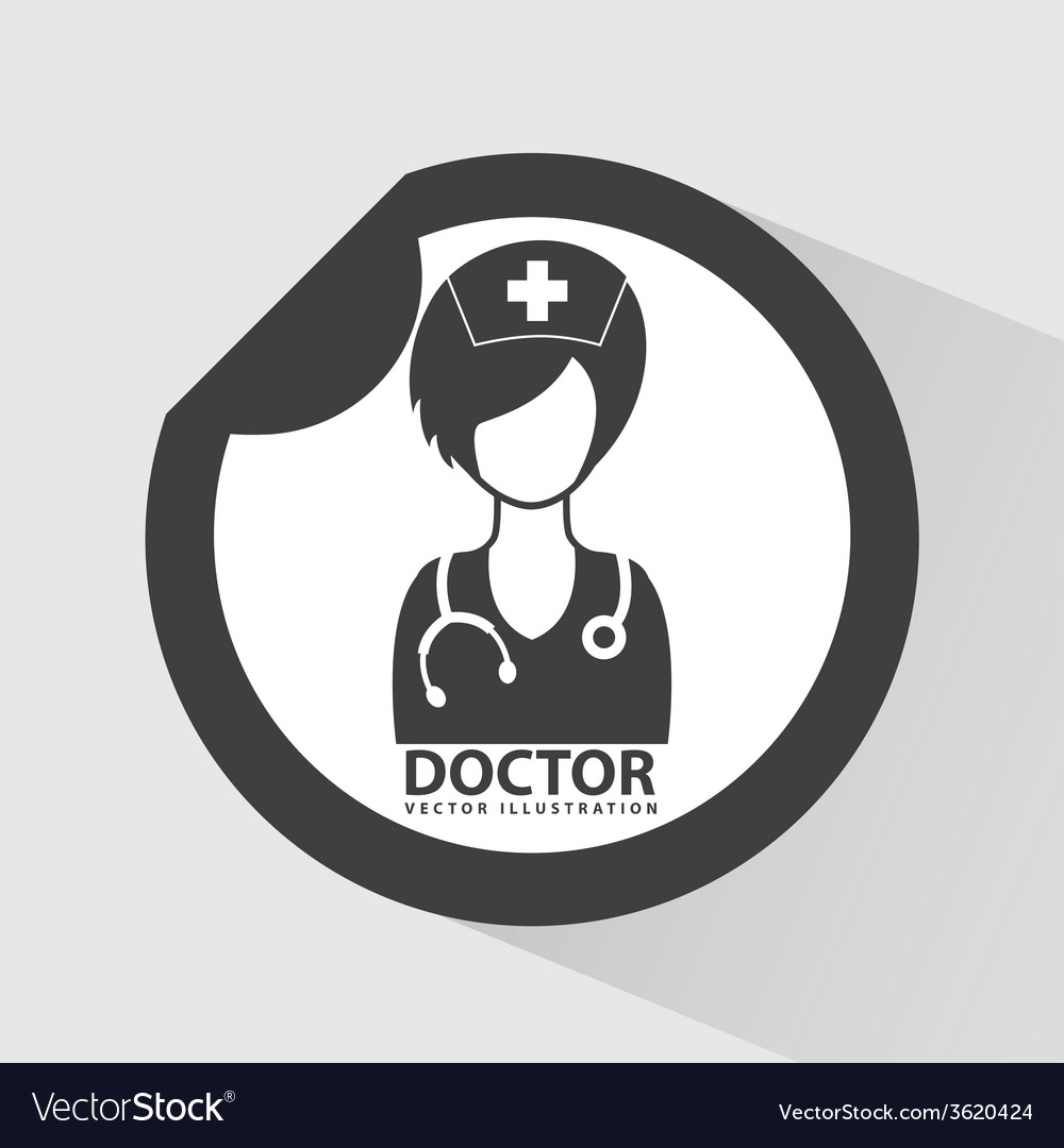 Doctor icon vector | Price: 1 Credit (USD $1)