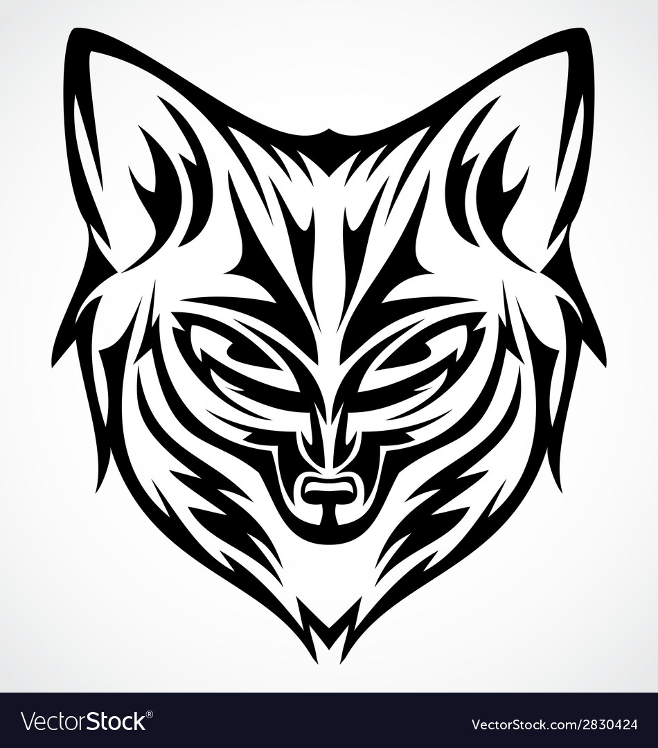 Fox head tattoo design vector | Price: 1 Credit (USD $1)