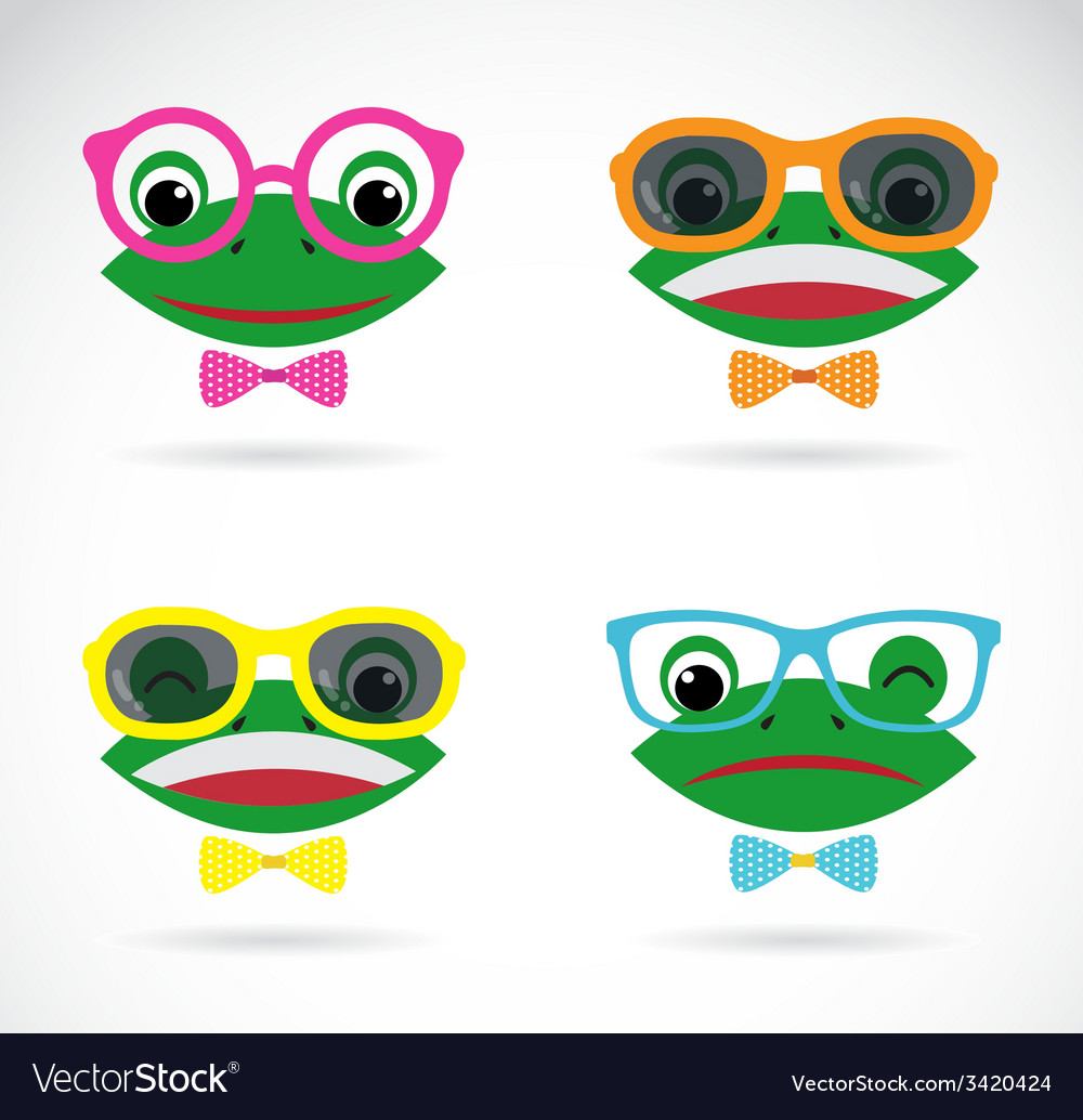 Image of a frog wear glasses vector | Price: 1 Credit (USD $1)