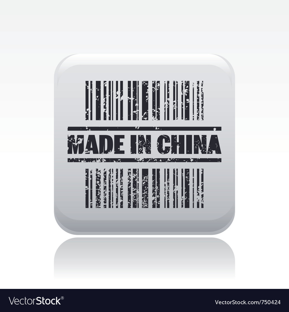Made in china icon vector | Price: 1 Credit (USD $1)