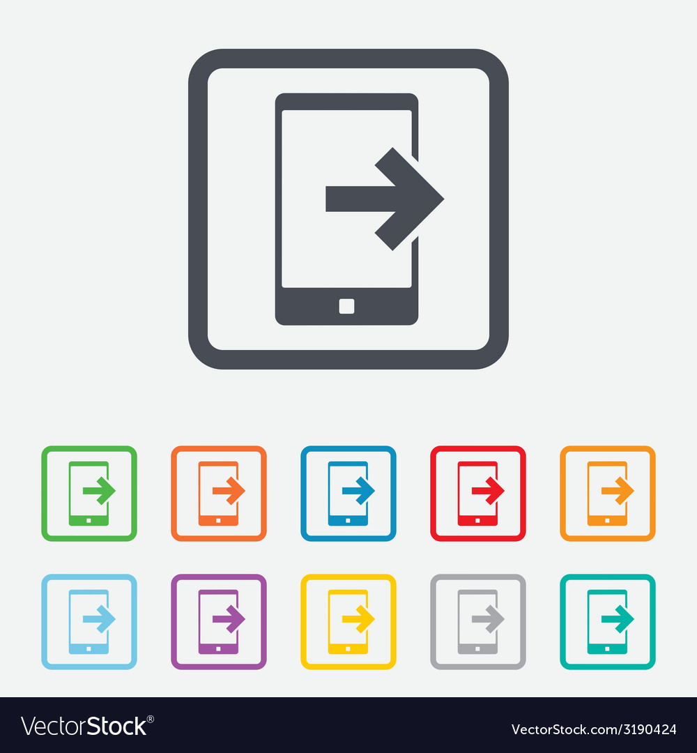 Outcoming call sign icon smartphone symbol vector | Price: 1 Credit (USD $1)