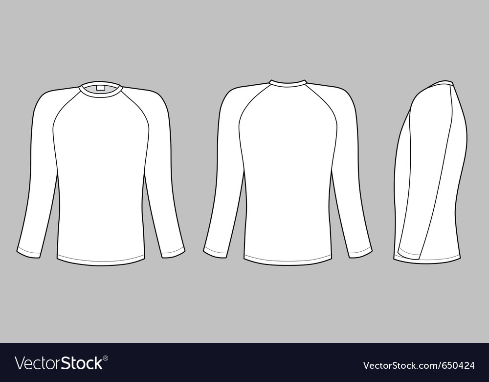 Raglan sleeve t-shirt vector | Price: 1 Credit (USD $1)