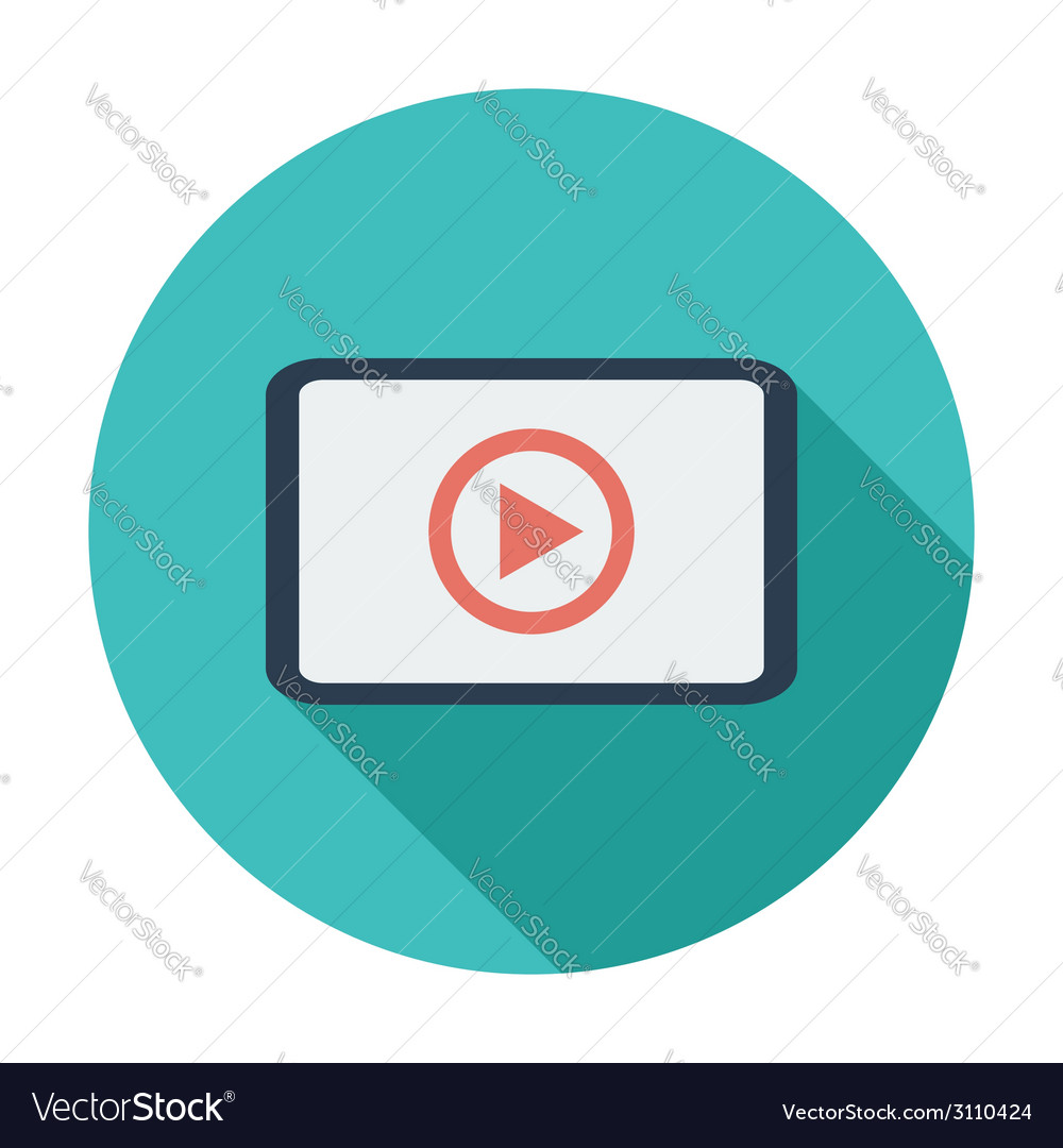 Video player flat icon vector | Price: 1 Credit (USD $1)