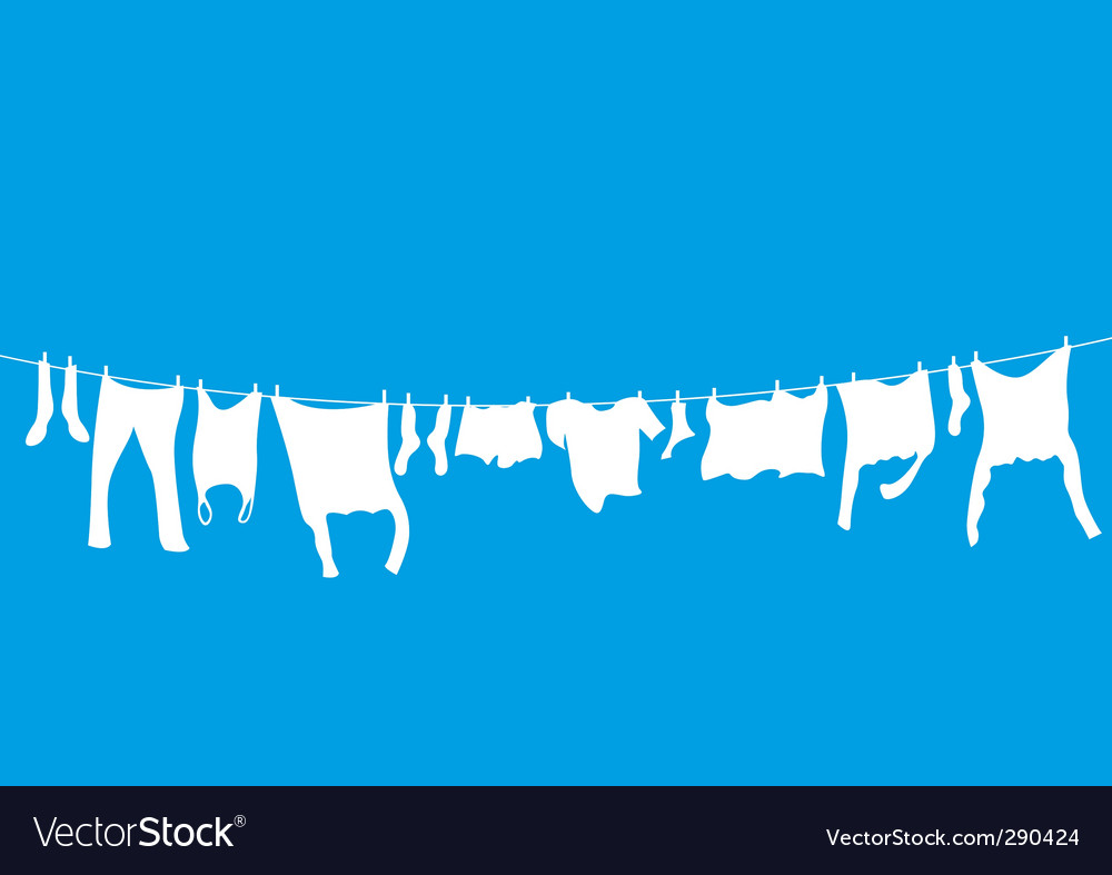 Washing lines vector | Price: 1 Credit (USD $1)