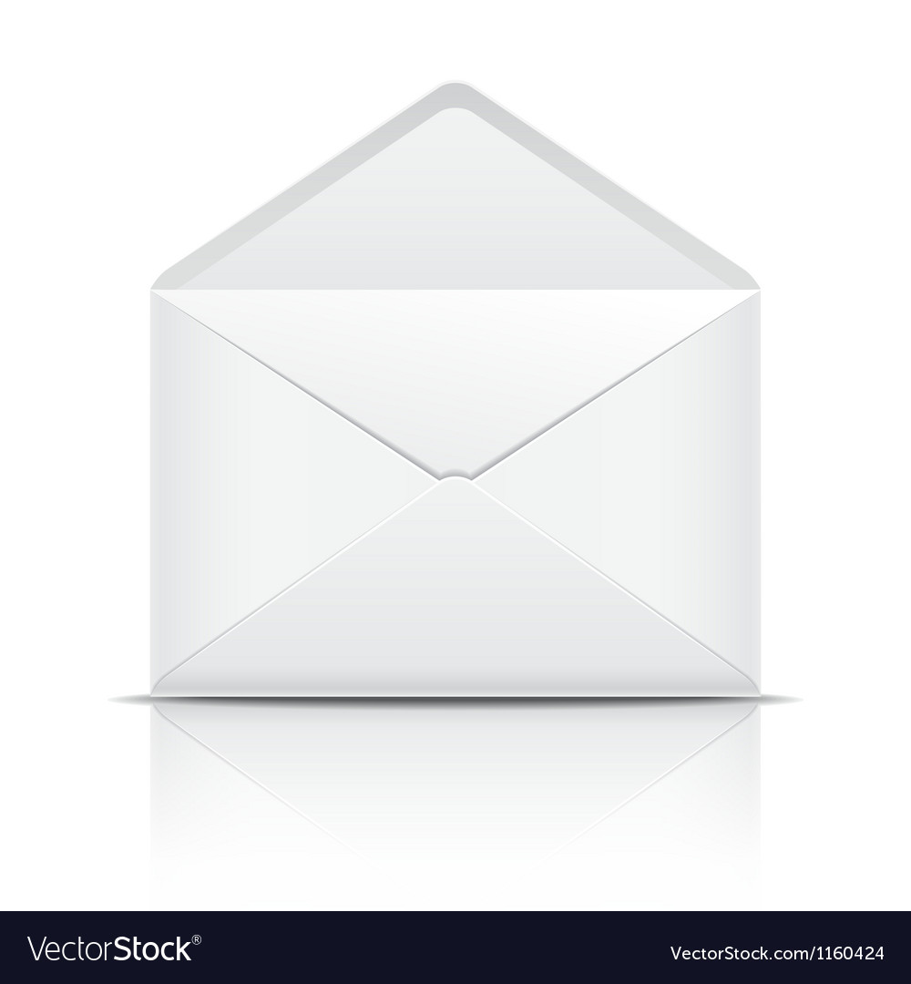 White open envelope vector | Price: 1 Credit (USD $1)