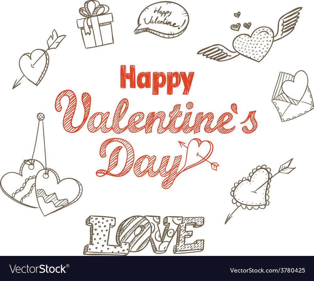 14th february collection vector | Price: 1 Credit (USD $1)
