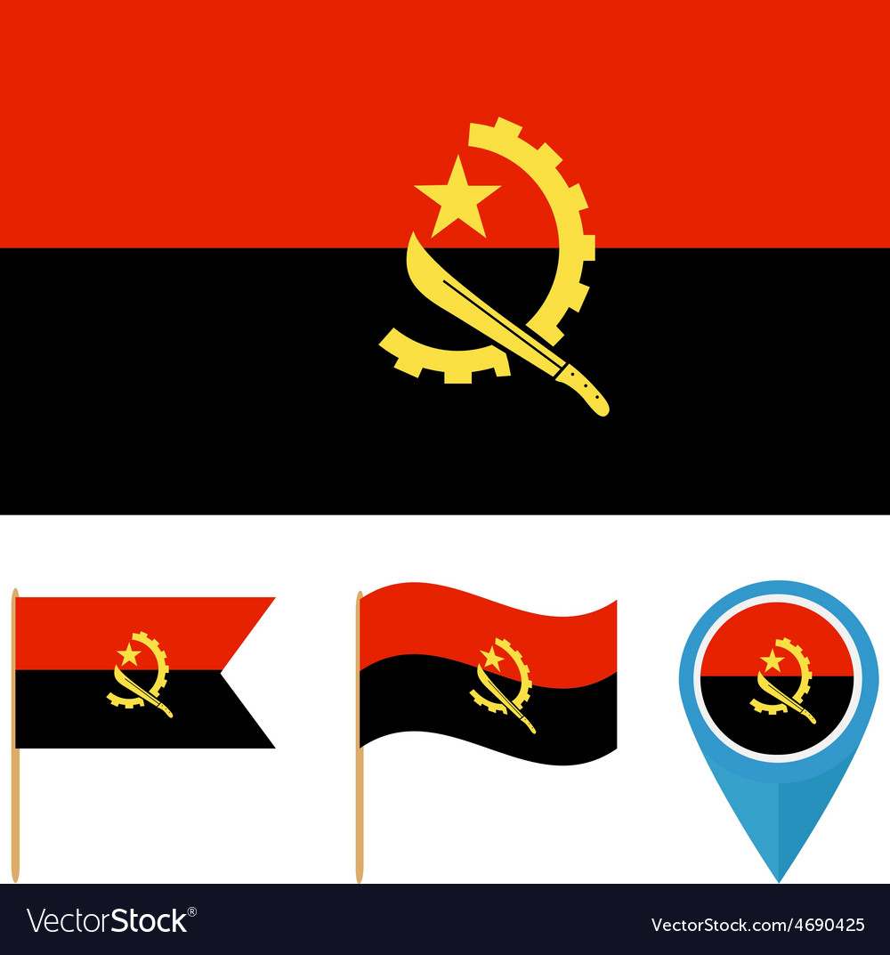 Angola icons for design country vector | Price: 1 Credit (USD $1)