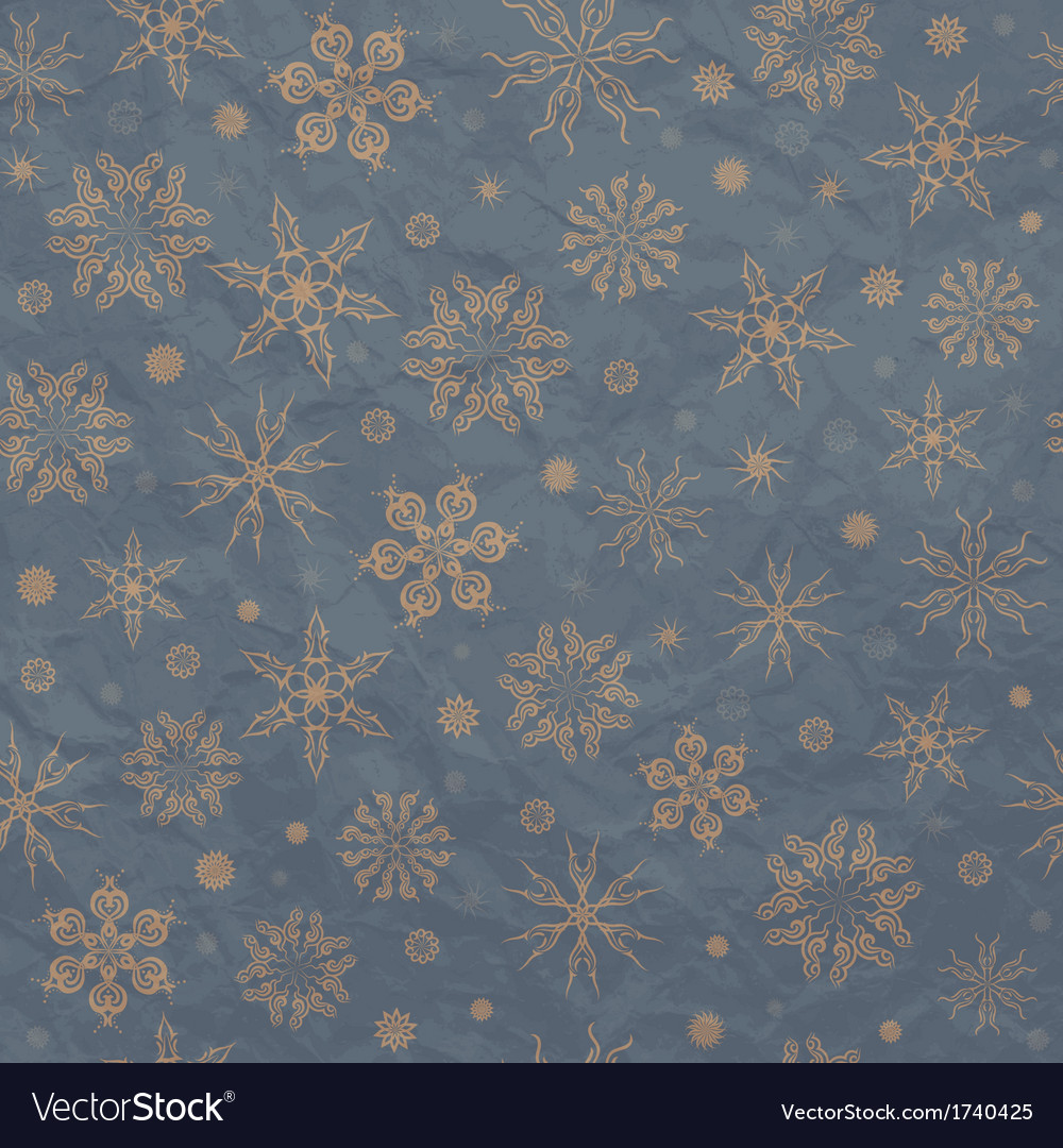 Beige snowflakes on a blue background vector | Price: 1 Credit (USD $1)
