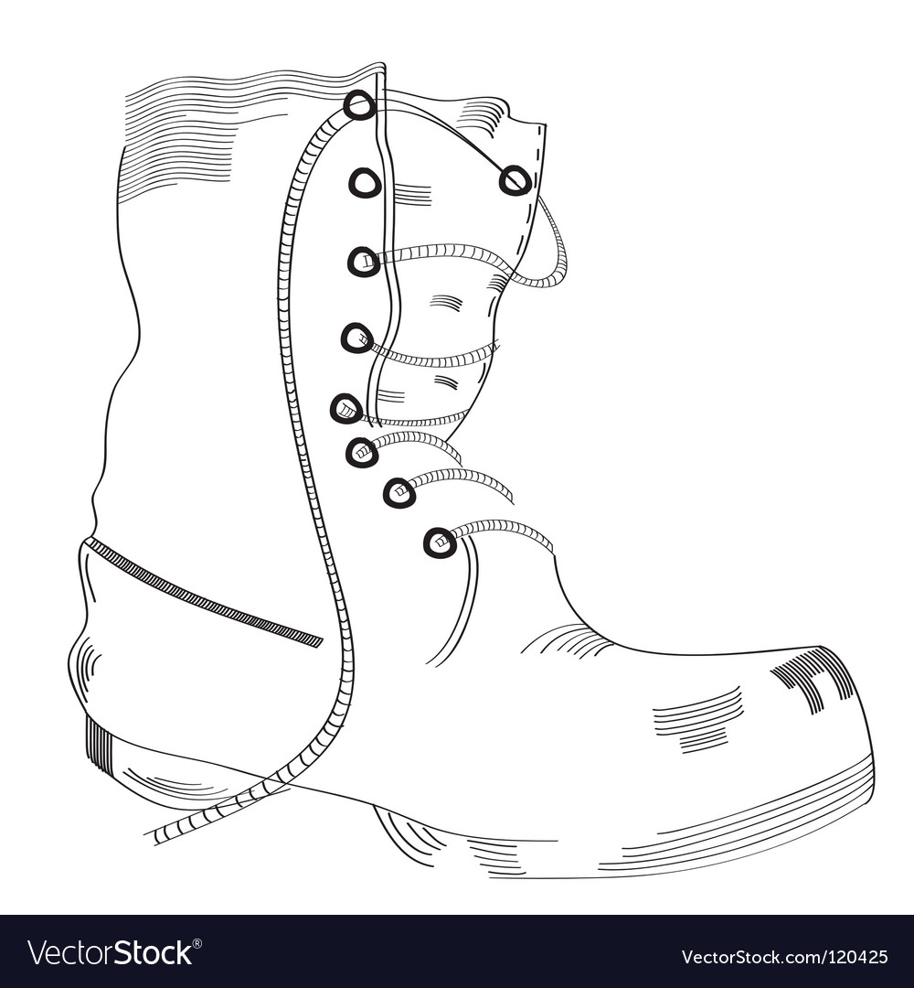 Boot sketch vector | Price: 1 Credit (USD $1)
