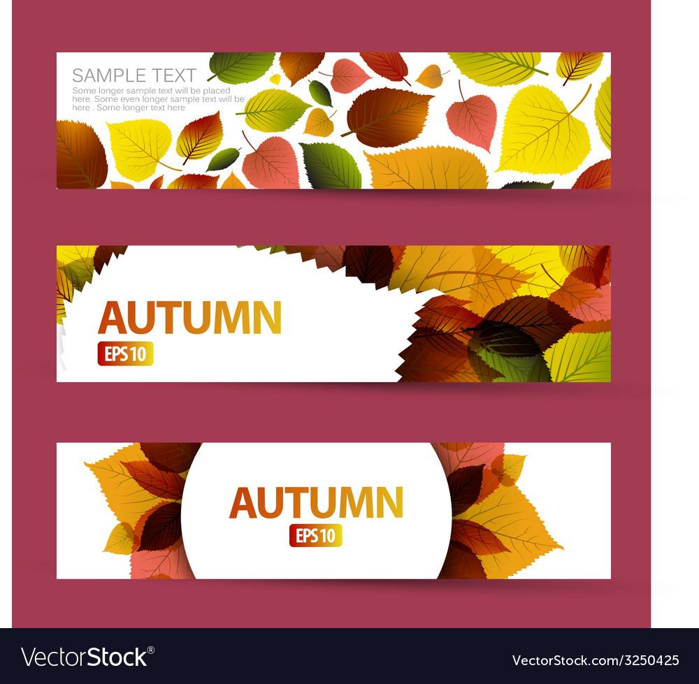 Fresh natural fall horizontal banners vector   Price: 1 Credit (USD $1)