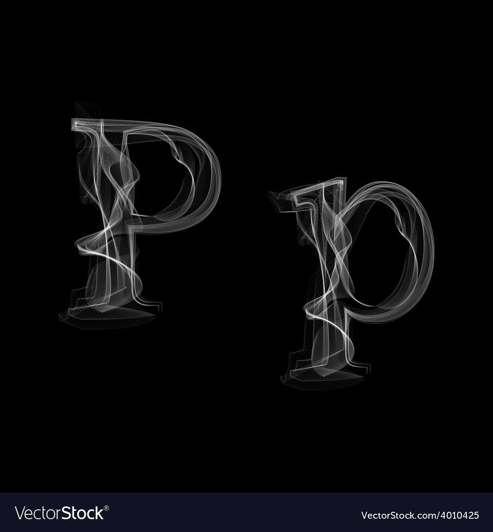 Smoke font letter p vector   Price: 1 Credit (USD $1)
