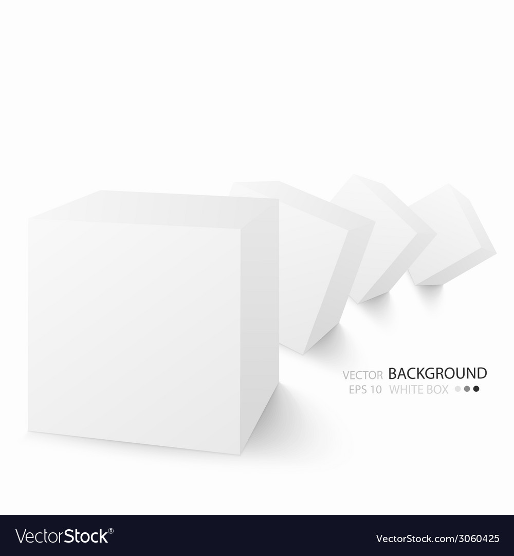 White cubes isolated on white background vector | Price: 1 Credit (USD $1)