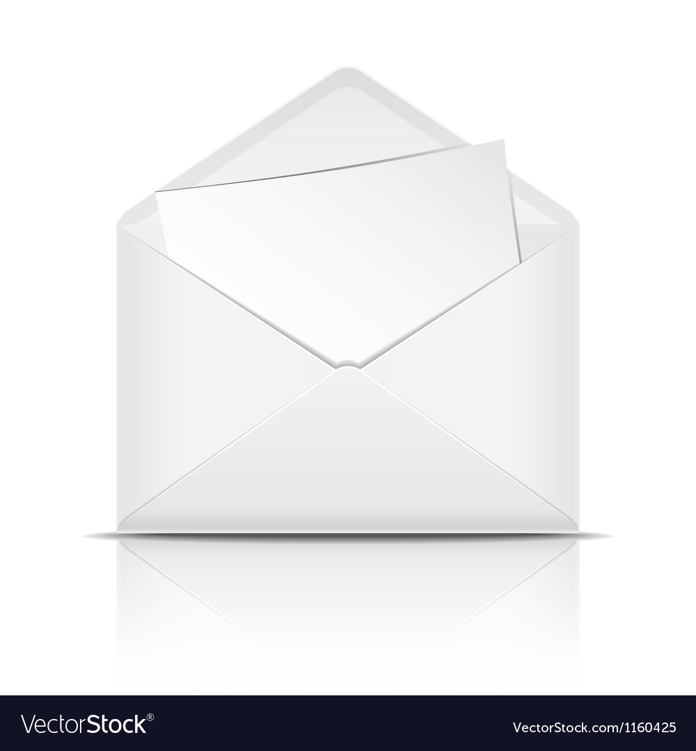 White open envelope with paper vector | Price: 1 Credit (USD $1)