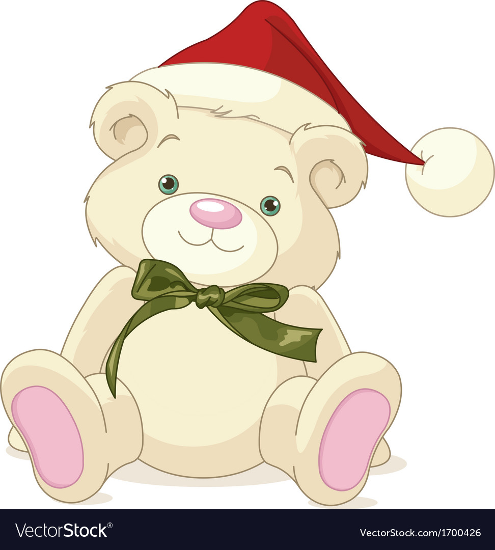 Christmas teddy bear vector | Price: 1 Credit (USD $1)