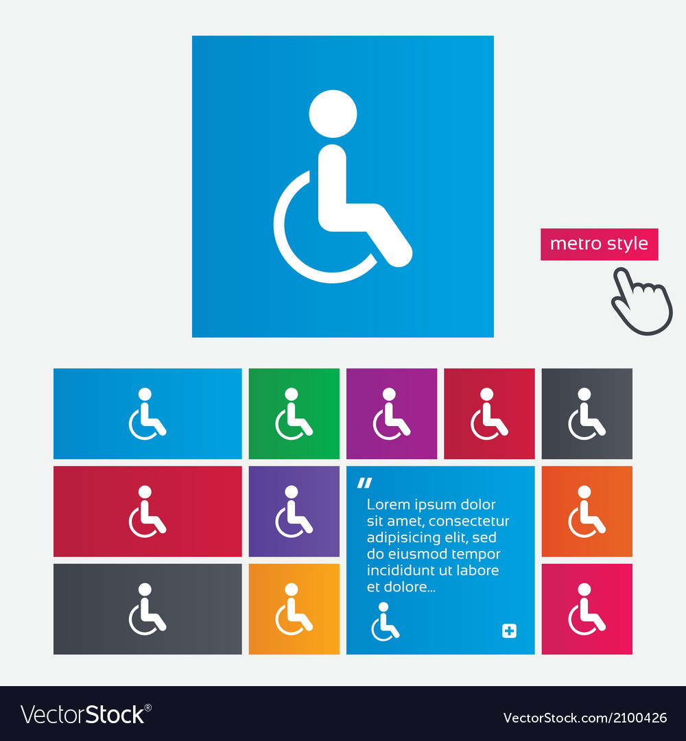 Disabled sign icon human on wheelchair symbol vector   Price: 1 Credit (USD $1)