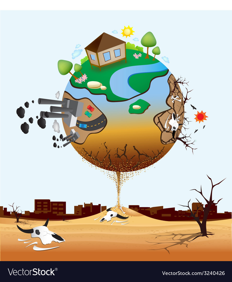 Global warming design 06 vector | Price: 1 Credit (USD $1)