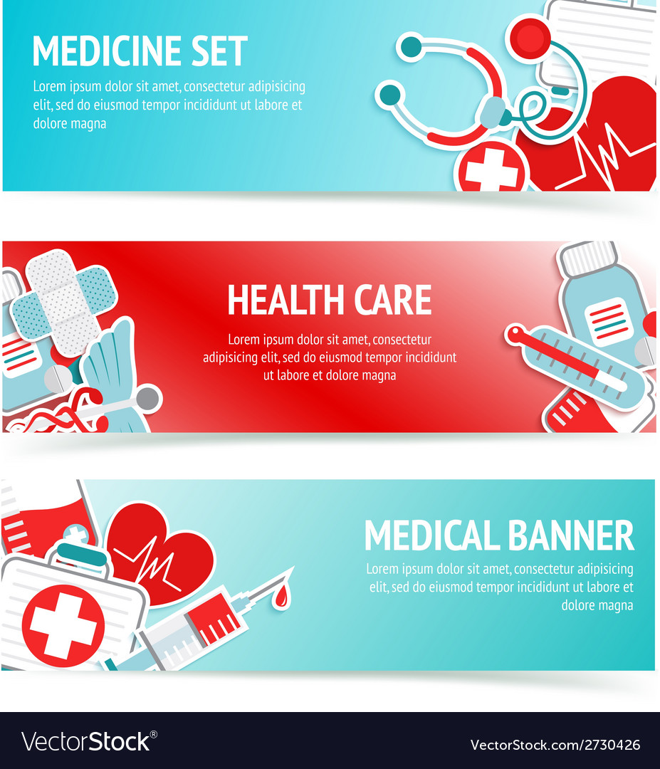 Medical health care banners vector | Price: 1 Credit (USD $1)