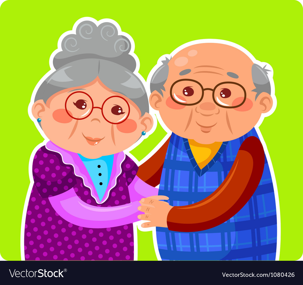 Old couple vector | Price: 3 Credit (USD $3)
