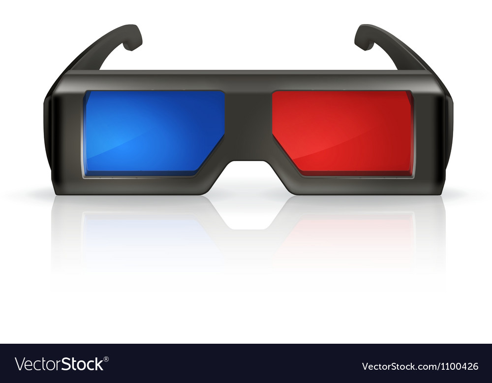 Plastic anaglyph glasses vector | Price: 1 Credit (USD $1)