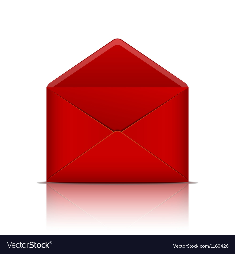 Red open envelope vector | Price: 1 Credit (USD $1)