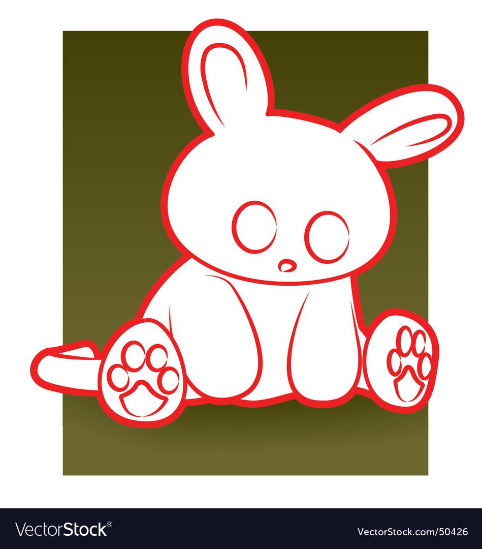 Sad rabbit vector | Price: 1 Credit (USD $1)