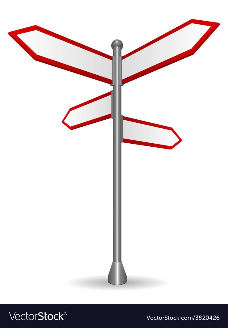 Sign post pointing different directions vector | Price: 1 Credit (USD $1)
