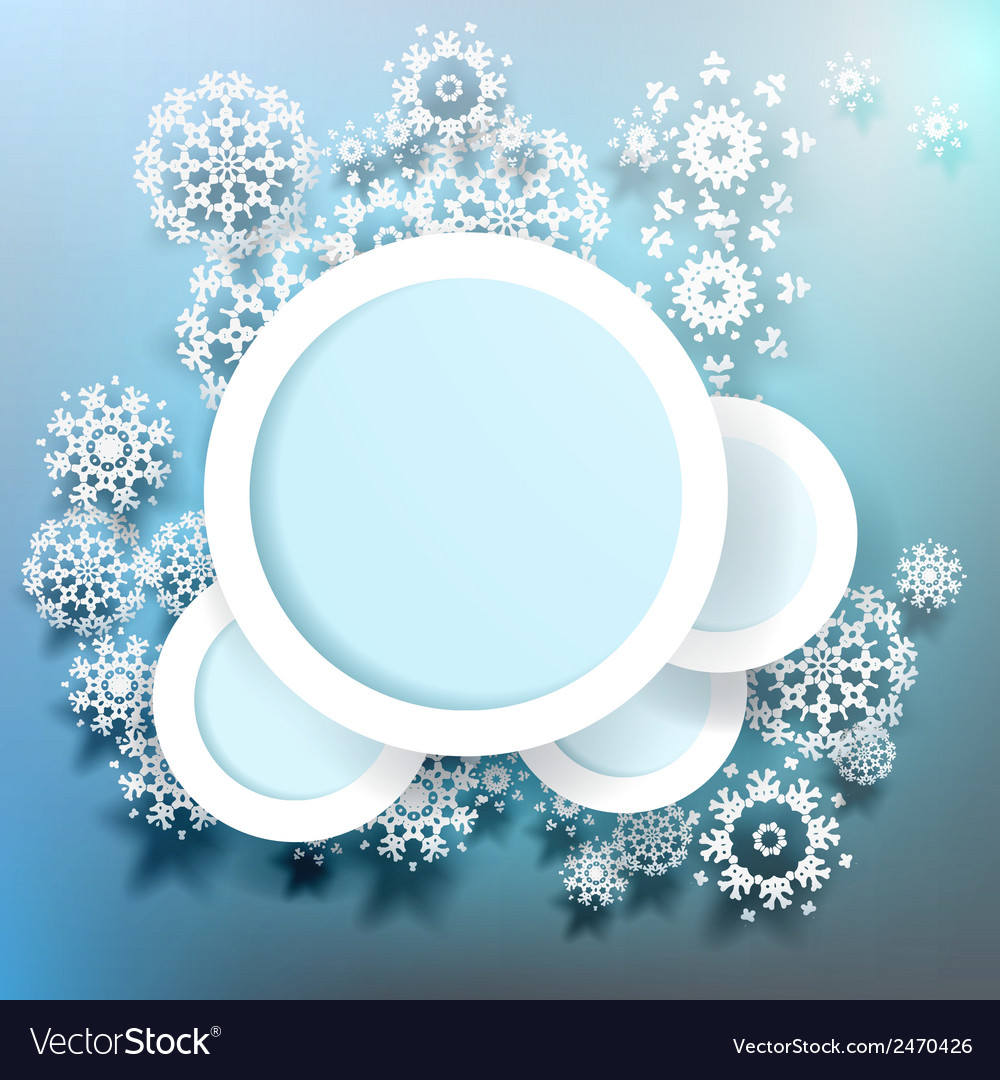 Snowflakes and space for text plus eps10 vector | Price: 1 Credit (USD $1)