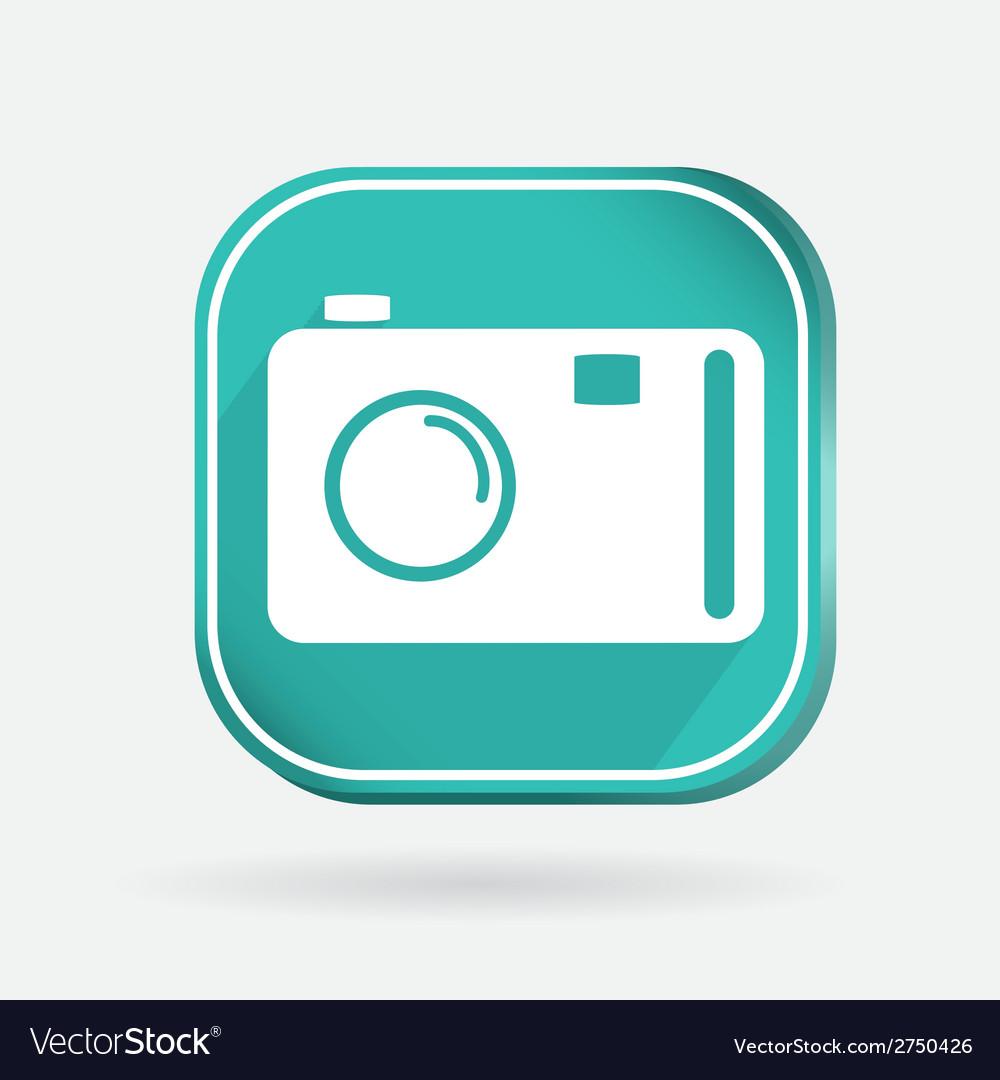 Square icon photo camera vector | Price: 1 Credit (USD $1)