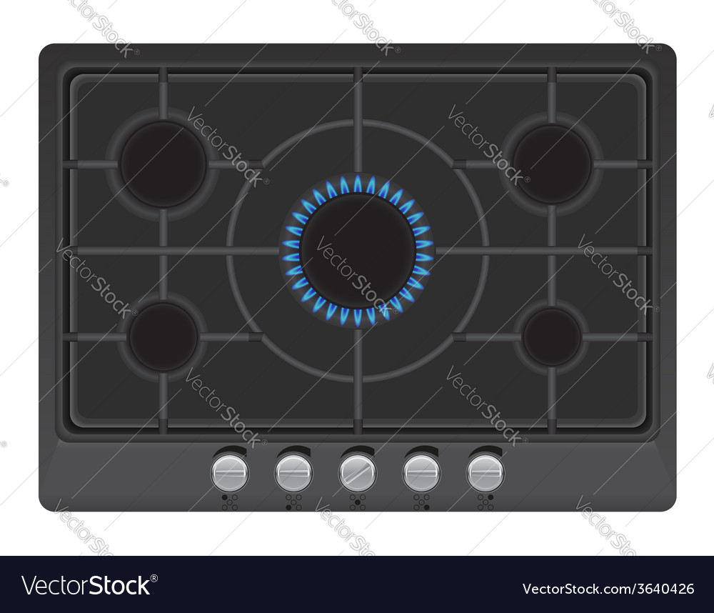 Surface for gas stove 02 vector | Price: 1 Credit (USD $1)