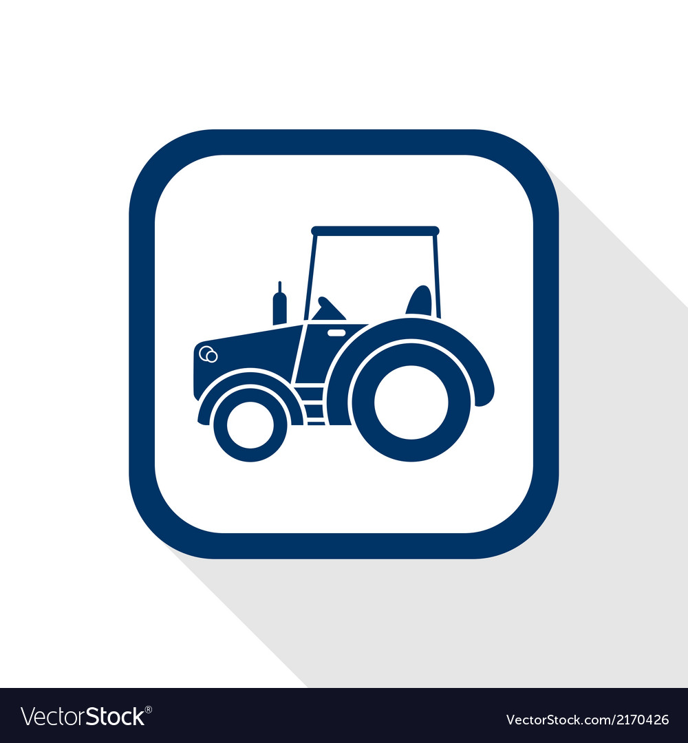 Tractor flat icon vector | Price: 1 Credit (USD $1)
