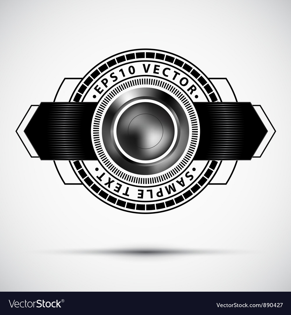 Abstract premium badge vector