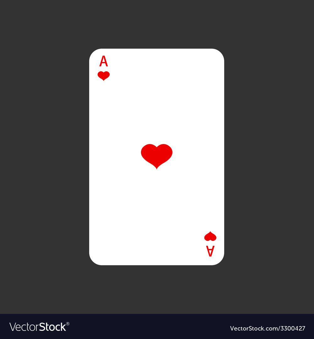 Ace playing card on gray vector | Price: 1 Credit (USD $1)