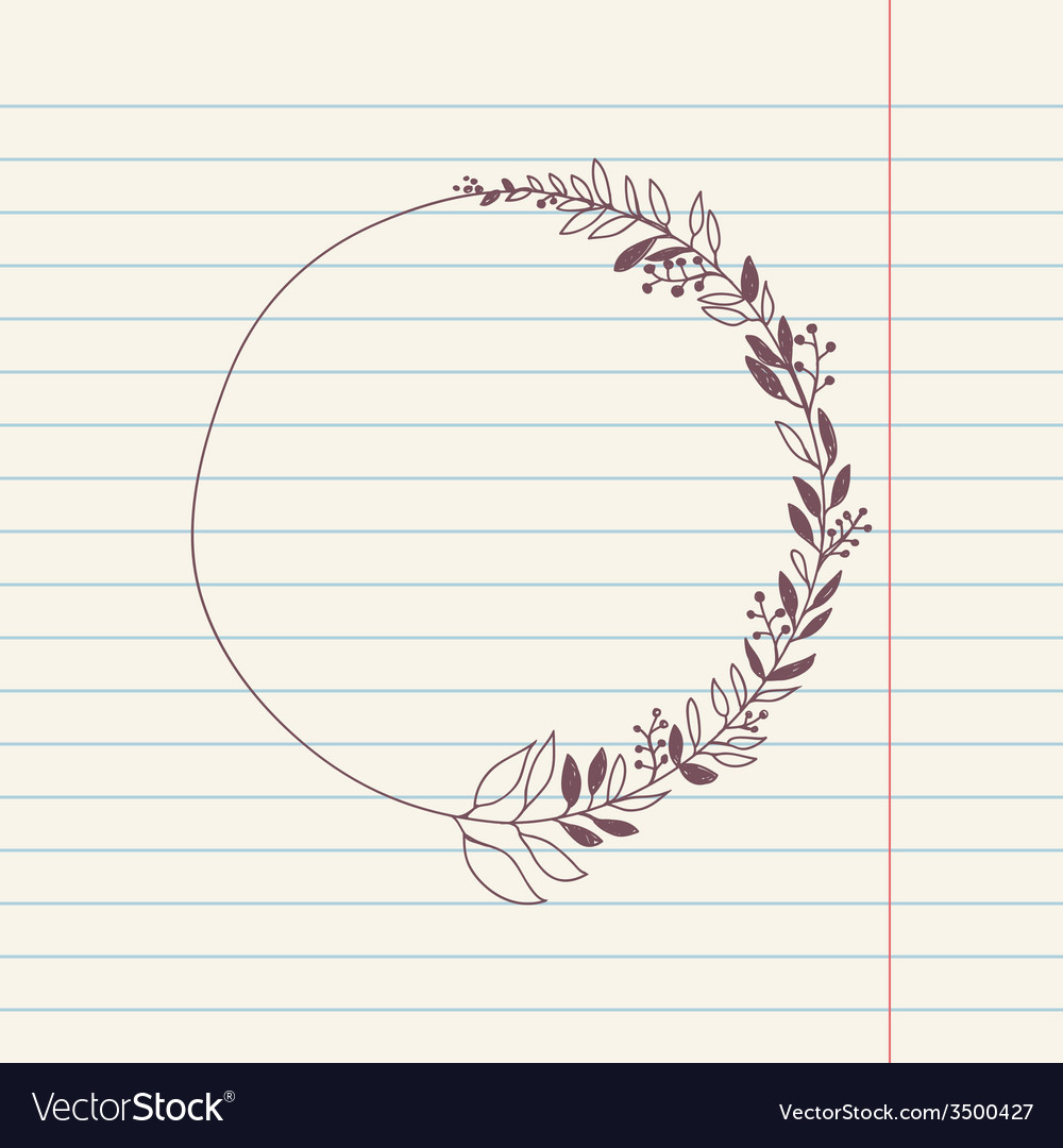 Chalk doodle sketch of wreath vector | Price: 1 Credit (USD $1)