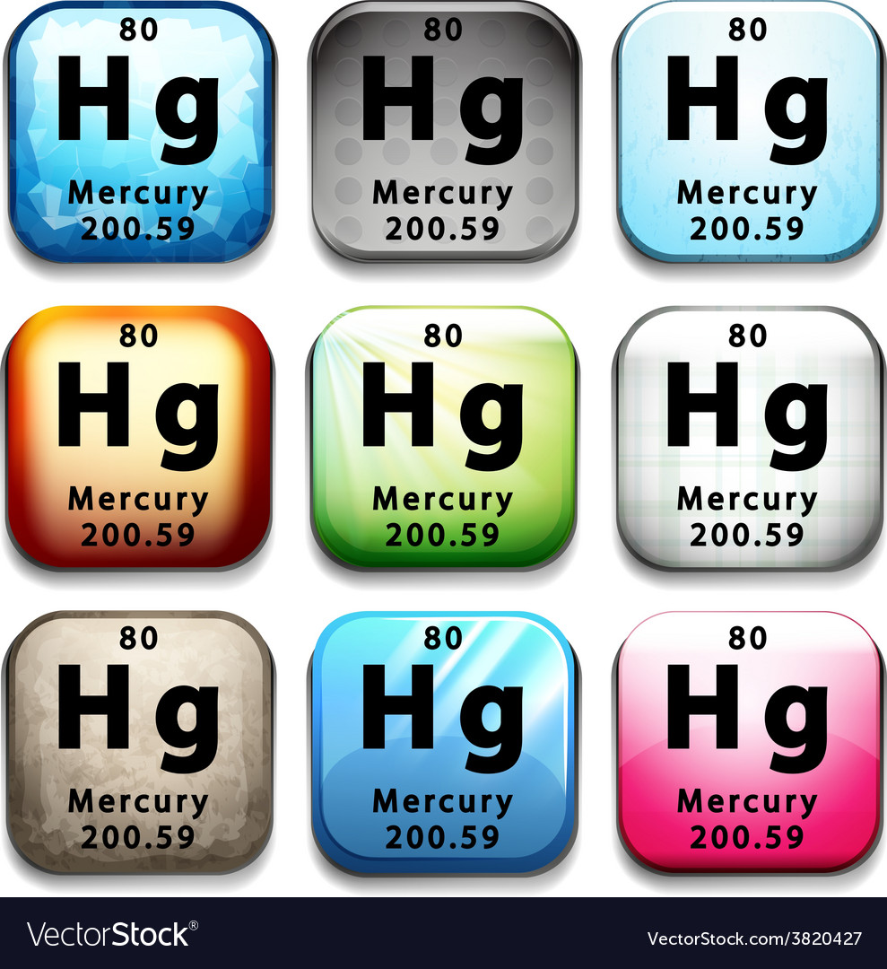 The chemical element mercury vector   Price: 1 Credit (USD $1)