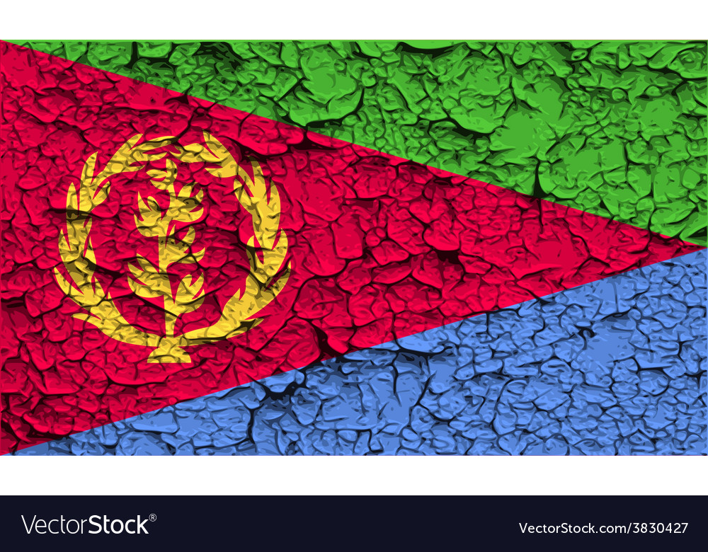 Flag of eritrea with old texture vector | Price: 1 Credit (USD $1)
