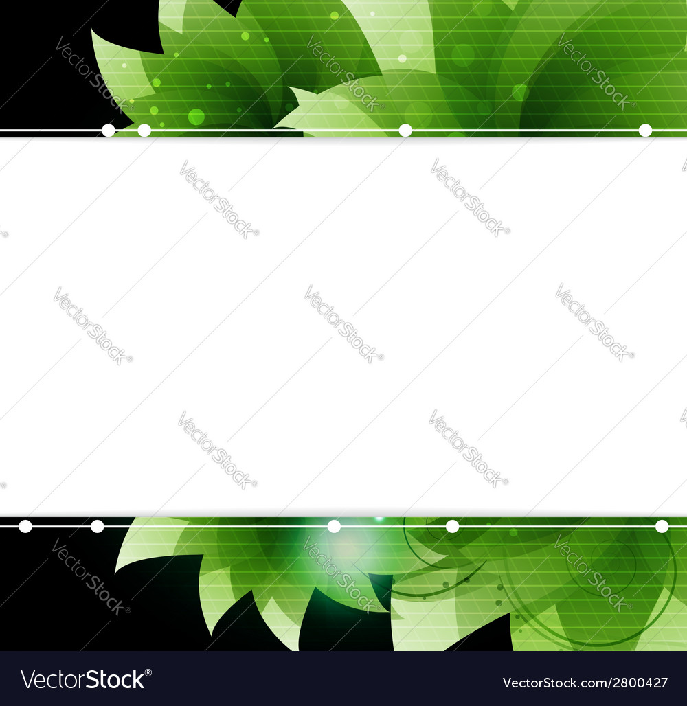 Green sparkling flowers vector | Price: 1 Credit (USD $1)
