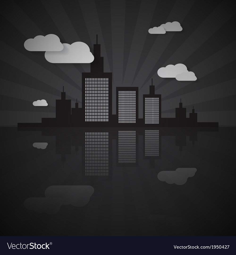 Night city scape vector | Price: 1 Credit (USD $1)
