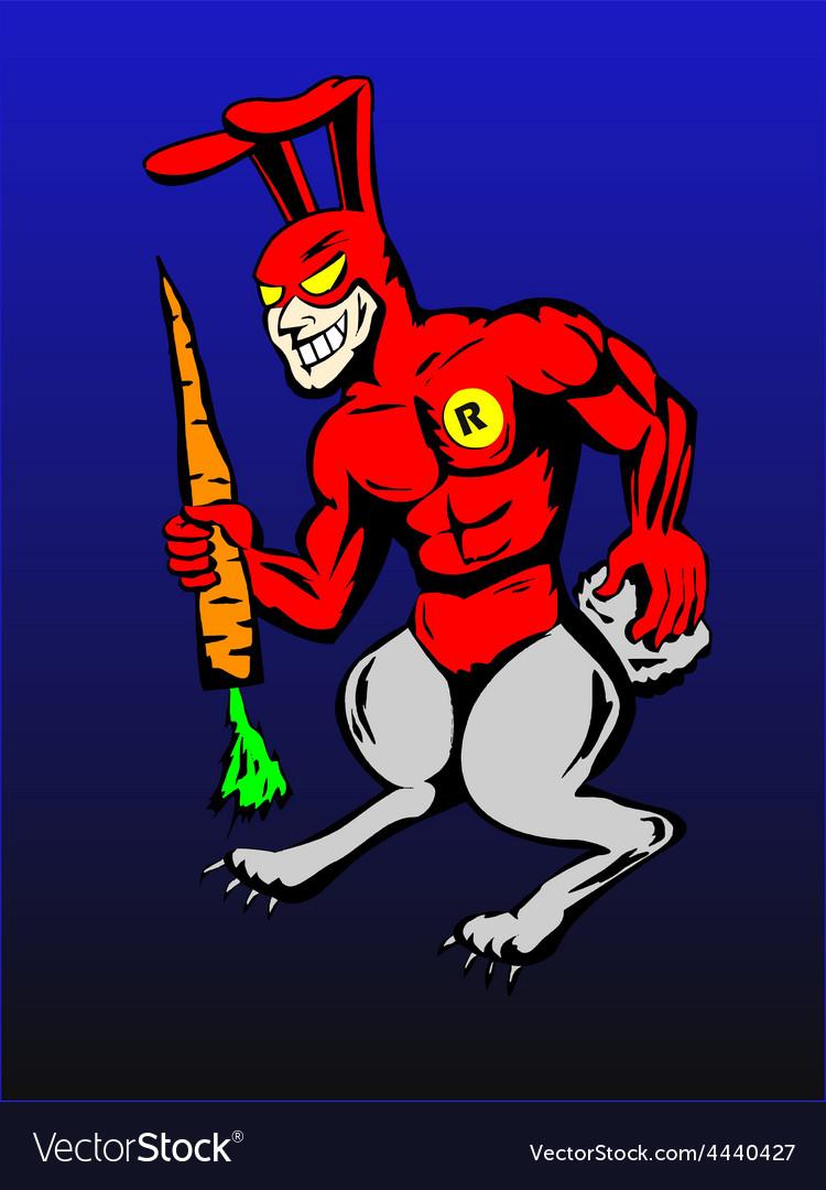Rabbit man superhero vector | Price: 1 Credit (USD $1)