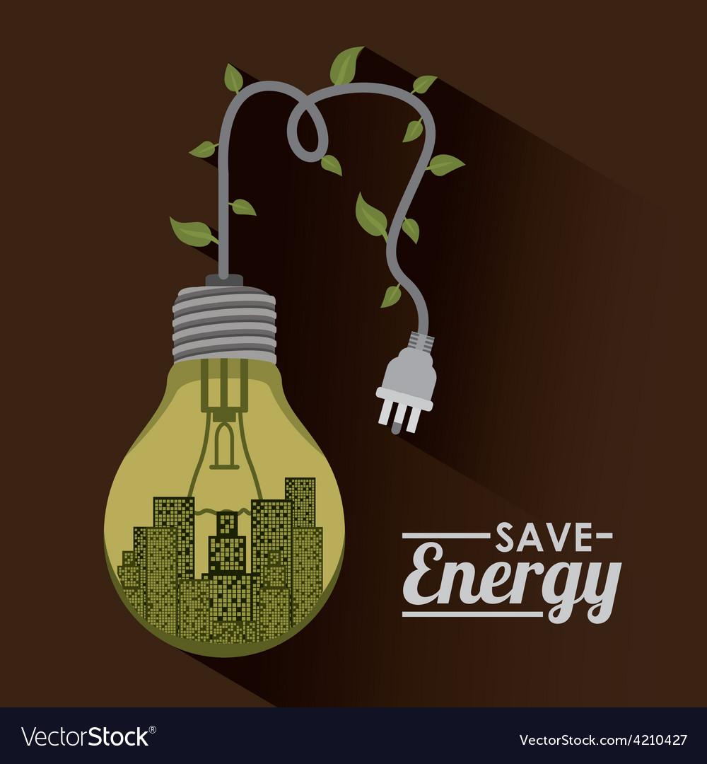 Save energy design vector | Price: 1 Credit (USD $1)