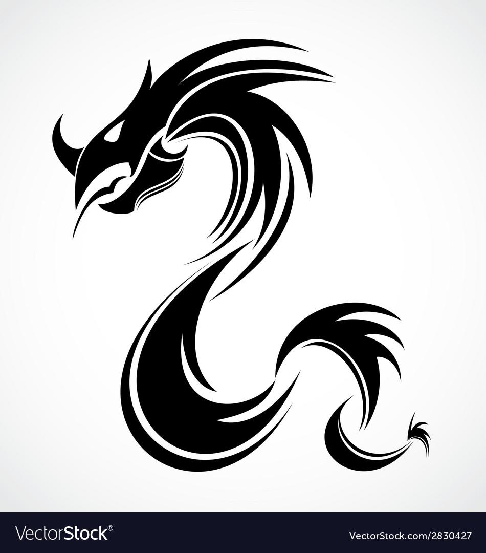 Tribal dragon vector | Price: 1 Credit (USD $1)
