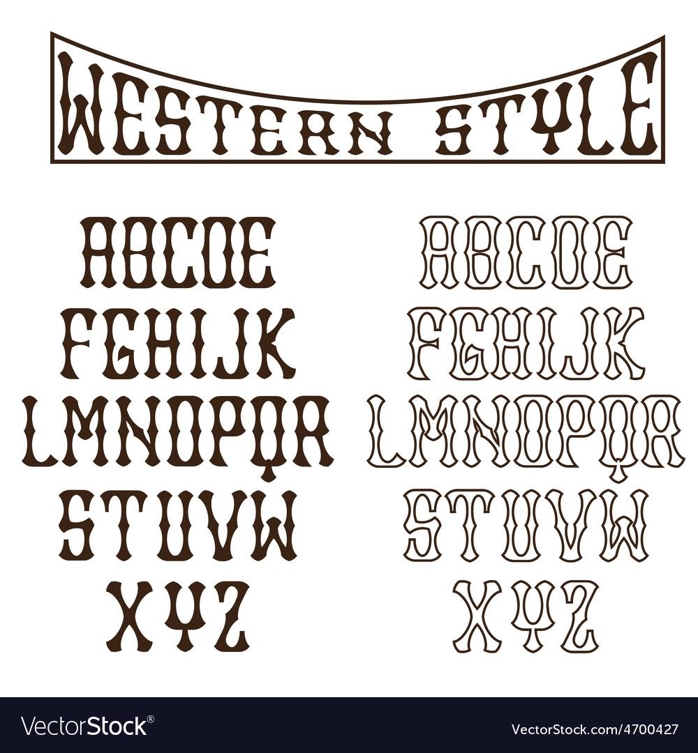 Western alphabet vector | Price: 1 Credit (USD $1)