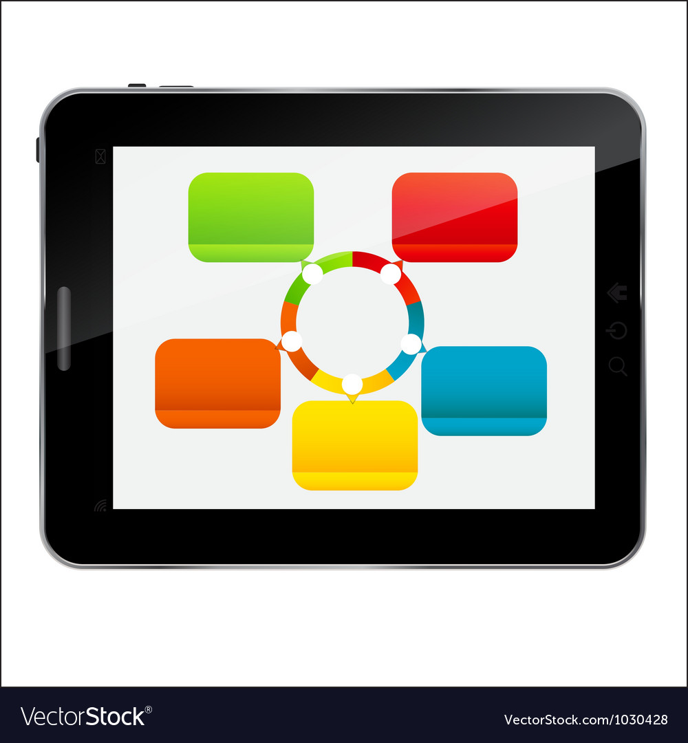 Abstract design tablet for different business vector | Price: 1 Credit (USD $1)